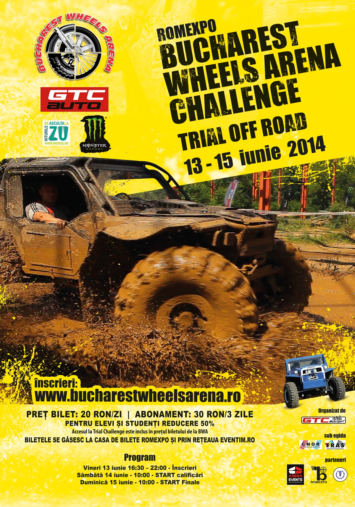 Monstri 4x4 dezlantuiti in inima Bucurestiului!