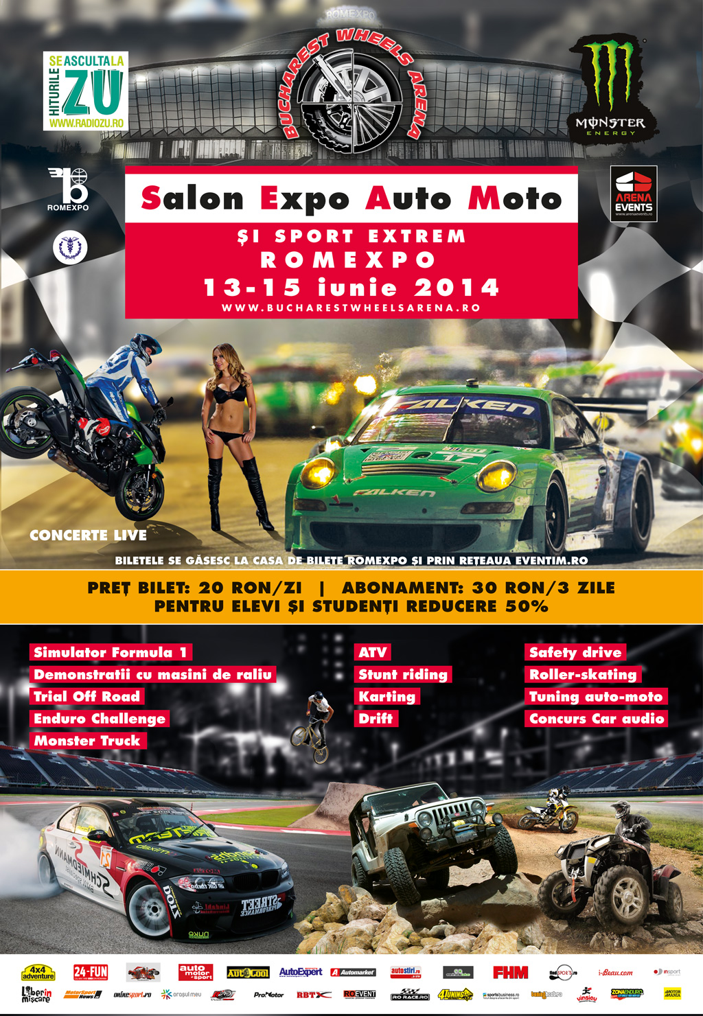 INVITATI SPECIALI la Bucharest Wheels Arena 2014